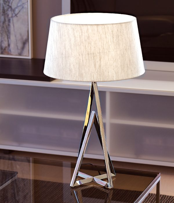 Apollo table lamp with white side